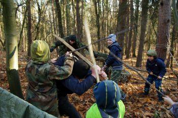 Dětská bitva při venkovní akci 2015.